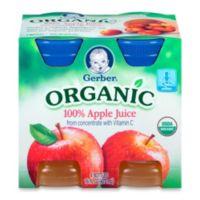 Gerber® 4-Pack 4 fl. oz. Organic Apple Juice