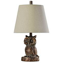 Coventry briarwood owl table lamp in bronze bed bath beyond product image for coventry briarwood owl table lamp in bronze aloadofball Choice Image