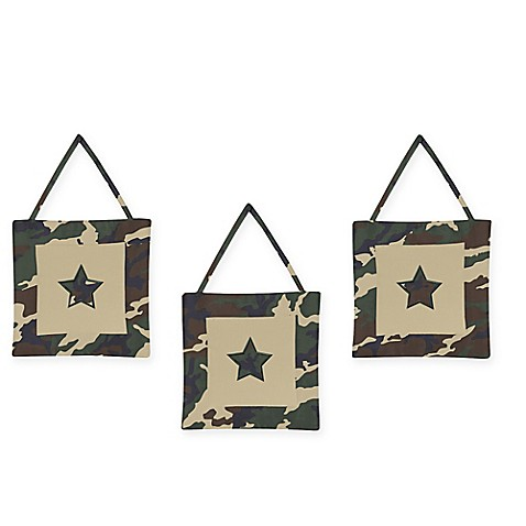 Sweet jojo designs camo 3 piece wall hanging set buybuy baby for Wall piece design