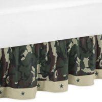 Sweet Jojo Designs Camo Toddler Bed Skirt in Green