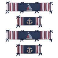 Sweet Jojo Designs Nautical Nights 4-Piece Crib Bumper Set