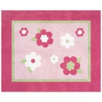 Sweet Jojo Designs Flower 36-Inch x 30-Inch Accent Rug in Pink/Green