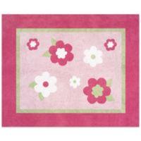 Sweet Jojo Designs Flower 36-Inch x 30-Inch Accent Rug in Pink/Green