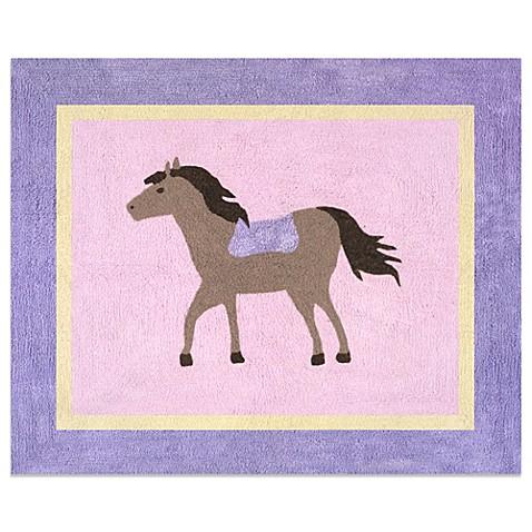 Sweet Jojo Designs Pretty Pony Floor Rug In Pink Buybuy Baby