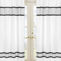 Sweet Jojo Designs Zig Zag Window Panel Pair in Grey/Black
