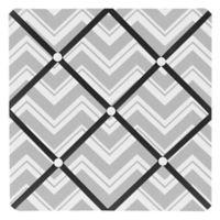 Sweet Jojo Designs Zig Zag Fabric Memo Board in Grey/Black