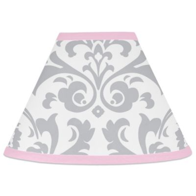 Buy pink lamp shades from bed bath beyond sweet jojo designs elizabeth lamp shade in pinkgrey aloadofball Images