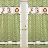 Sweet Jojo Designs Jungle Time Window Panels in Leaf Print