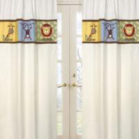 Sweet Jojo Designs Jungle Time Window Panels in Ivory