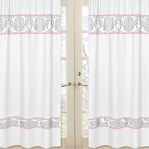 Sweet jojo designs elizabeth window panel pair in pink for Sweet jojo designs bathroom