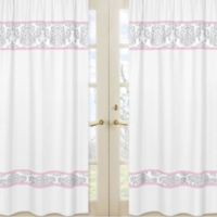 Sweet Jojo Designs Elizabeth Window Panel Pair in Pink