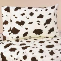 Sweet Jojo Designs Wild West Twin Sheet Set in Cow Print