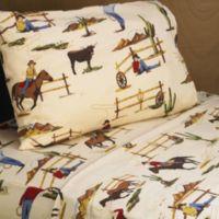 Sweet Jojo Designs Wild West Cowboy Twin Sheet Set in Horse Print