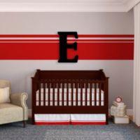 """Munch™ Oversized Black Wood Letter Wall Art """"E"""""""