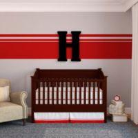 """Munch™ Oversized Black Wood Letter Wall Art """"H"""""""