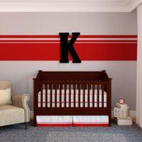 """Munch™ Oversized Black Wood Letter Wall Art """"K"""""""