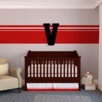 """Munch™ Oversized Black Wood Letter Wall Art """"V"""""""