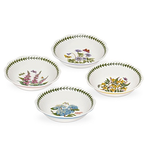 Portmeirion botanic garden terrace bowls set of 4 bed for Portmeirion dinnerware set of 4 botanic garden canape plates