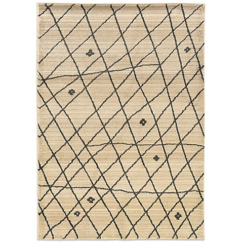 image of Oriental Weavers™ Marrakesh Contemporary Grid Rug in Ivory