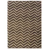 Oriental Weavers™ Marrakesh Zig Zag 6-Foot 7-Inch x 9-Foot 1-Inch Rug in Brown