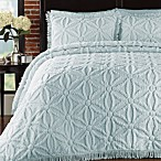 Arianna Queen Bedspread and Sham Set in Pearl Blue