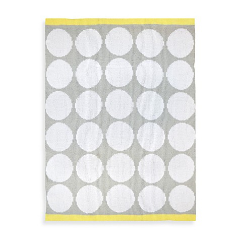 Just Born® Mix & Match Chenille Blanket  with White Dots in Neutral