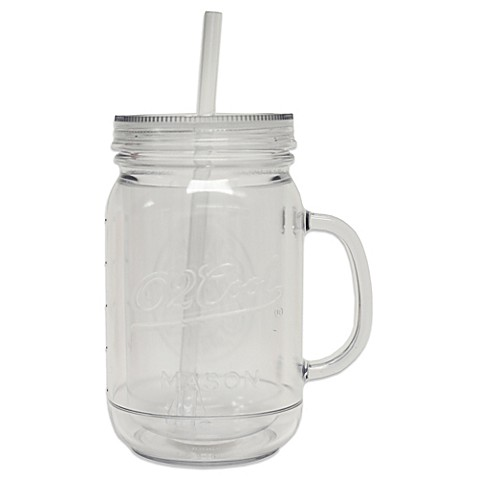 O2cool 174 32 Ounce Insulated Mason Jar Beverage Cup Bed