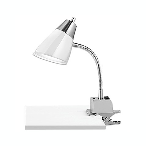 Studio 3b Dual Shade Usb Clip Lamps In White Bed Bath