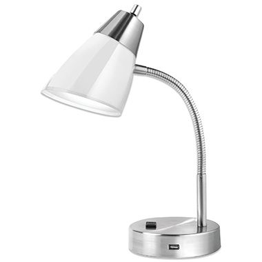 Studio 3B™ Outlet/USB CFL Desk Lamp In White