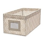 Small Canvas Storage Bin in Trellis