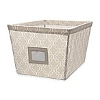 Medium Canvas Storage Bin in Trellis