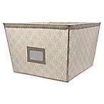 Large Canvas Storage Bin in Trellis