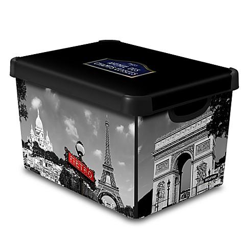 Curver 174 Deco Stockholmline City Of Paris Storage Box Bed
