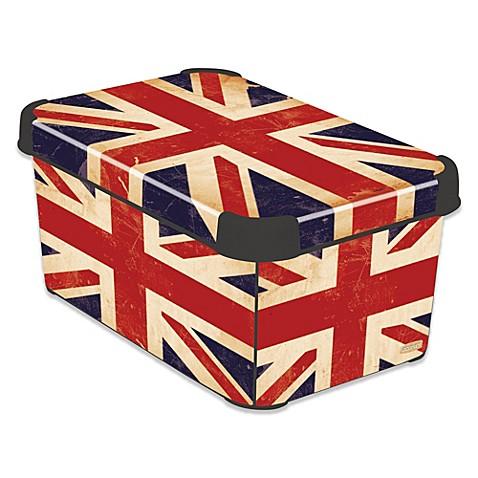 curver deco stockholmline british flag storage box bed. Black Bedroom Furniture Sets. Home Design Ideas