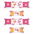 Sweet Jojo Designs Pink and Orange Butterfly Crib Bumper