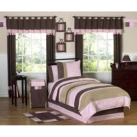 Sweet Jojo Designs Soho 3-Piece Full/Queen Bedding Set in Pink/Brown