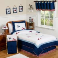 Sweet Jojo Design Vintage Aviator Collection Full/Queen 3-Piece Bedding Set