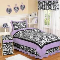 Sweet Jojo Designs Funky Zebra 3-Piece Full/Queen Bedding Set in Purple