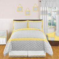 Sweet Jojo Designs Zig Zag Full/Queen 3-Piece Bedding Set in Grey/Yellow