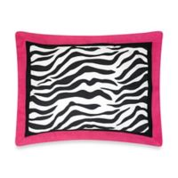 Sweet Jojo Designs Funky Zebra Standard Pillow Sham in Pink