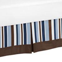 Sweet Jojo Designs Starry Night Toddler Bed Skirt in Blue/Brown