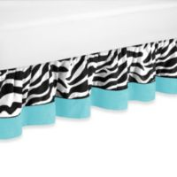 Sweet Jojo Designs Funky Zebra Queen Bed Skirt in Turquoise