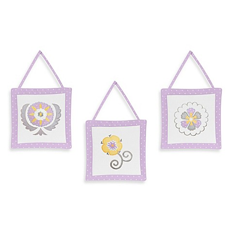 Buy Sweet Jojo Designs Suzanna 3 Piece Wall Hanging Set In