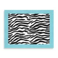 Sweet Jojo Designs Funky Zebra Rug in Turquoise