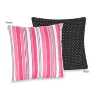 Sweet Jojo Designs Madison Reversible Accent Throw Pillow in Stripe and Dot