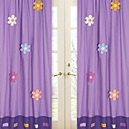 Sweet Jojo Designs Danielle's Daisies Window Panel Pair