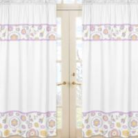 Sweet Jojo Designs Suzanna Window Panel Pair in Lavender/White