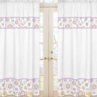 Sweet Jojo Designs Suzanna Window Panel Pair in Lavender/White