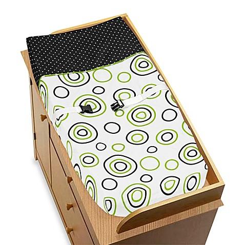 Sweet jojo designs spirodot changing pad cover bed bath for Sweet jojo designs bathroom