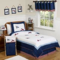 Sweet Jojo Design Vintage Aviator Collection Twin 4-Piece Bedding Set